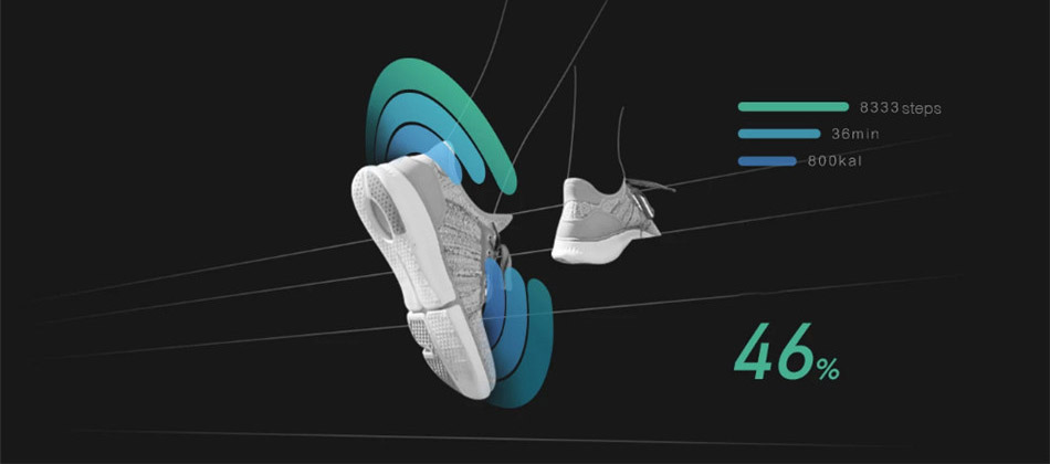 Original Xiaomi Mijia Smart Shoes Fashionable High Good Value Design Replaceable Smart Chip Waterproof IP67 Phone APP Control