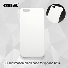 Free shipping Olliek company retail hard plastic pc 3d sublimation blank phone case for iphone 6 6s 20 pcs a lot(China)