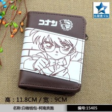 Japanese Anime Detective Conan Chocolate PU Short Wallet/Purse With Zipper