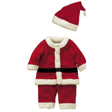 New Retail Kids Christmas Clothing Set Santa Claus Costume For Baby Xmas Party Clothes Romper Hat 2 pcs Sets Baby Wear
