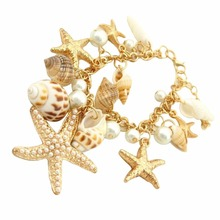 Buy Starfish Conch Shell Bracelet Elements Bullactaexarata Bracelet Bangle Fine Jewerly Women Girl 2017 New Fashion for $1.64 in AliExpress store
