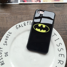 For iphone 7 7 plus 6 6S 6Plus 5 5S SE Wholesale Lover Cell Phone Case  Batman Cases Soft Silicone Frame Mirror Phone Back Cover
