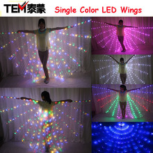 New 2016 Fashion Light Wing Led Costume Single Color Wings DJ Wing Girls Dance Costumes