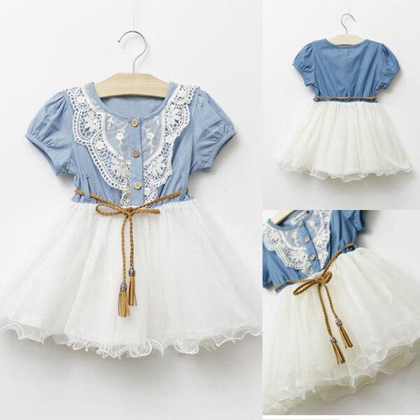 Lovely HotToddler Baby Kids Girl Short Sleeve Lace Princess Tutu Dress Party Dress1-6Y<br><br>Aliexpress