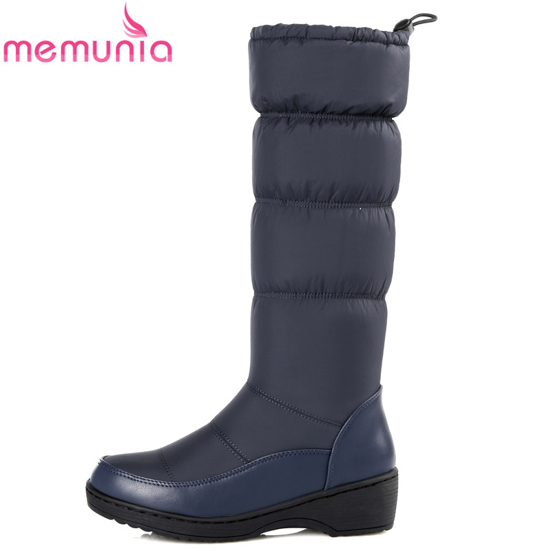 Plus size 35-44 high quality thick fur snow boots warm down platform knee high winter boots women shoes ladies fashion booties<br><br>Aliexpress