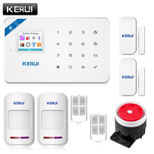 2017 KERUI W18 WIFI GSM SMS Home Burglar Security Alarm System PIR Motion detector Touch Screen Alarm Panel APP Control