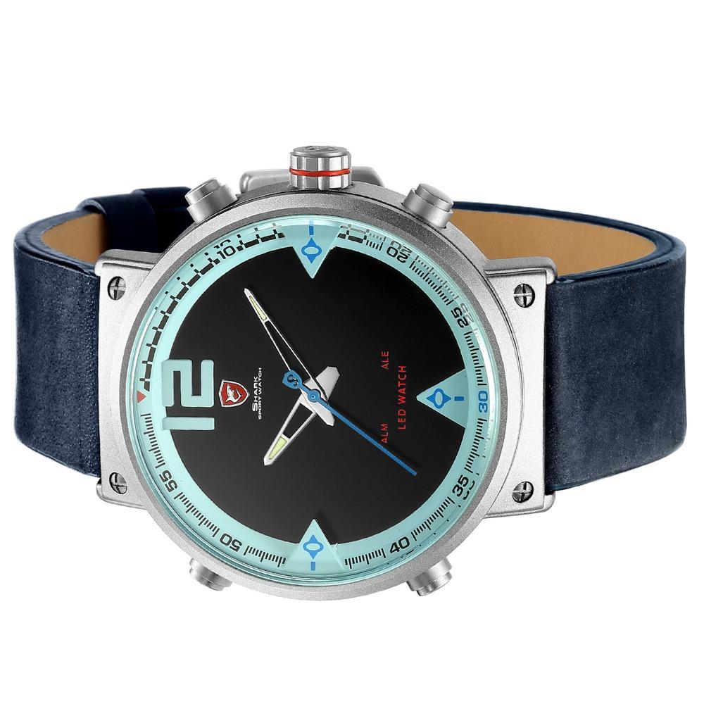 HTB14CUbaLjM8KJjSZFyq6xdzVXac - Bluegray Carpet Shark Sport Watch - Blue SH547