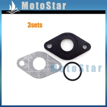 3sets Intake Manifold Inlet Pipe Gasket For GY6 50cc Engine Carburetor Carb Znen SUNL Baotian Jmstar Chinese Moped Scooter(China)