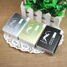 Cigarette case with disposable lighters, open creative personality cigarette case, can put 10 cigarettes(China)