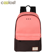 Women Casual Backpack For Teenage Girls Children School Bags Bagpack Lady Laptop Backpack Student Book Bag Schoolbags Pink Blue(China)