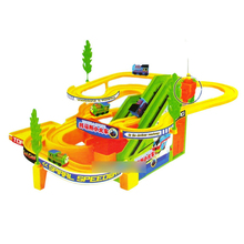 D412 Thomas the train speed racing car racing track toy car electric toys with music