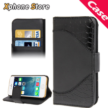 Good Quality Crocodile Texture Horizontal Flip Leather Case with Credit Card Slots & Holder Wallet Cover for iPhone 5 & 5S