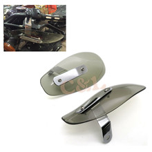 1 Set Motorcycle Smoke Hand Guard Wind Deflector For Harley Softail Glide Cruiser