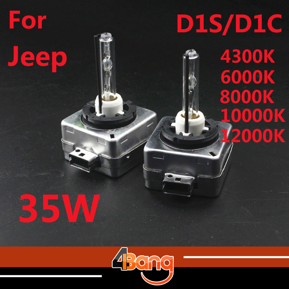 2Pcs 35W D1S D1C 4300K 5000K 6000K 8000K 10000K 12000K HID Xenon Replacement Bulb D1S/C Car Headlight Bulb Grand Cherokee