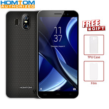 HOMTOM S16 3G cellular phone 5.5 inch smart phone Full Display Quad Core 2GB RAM 16GB ROM Dual Camera Fingerprint Lock Phone(China)