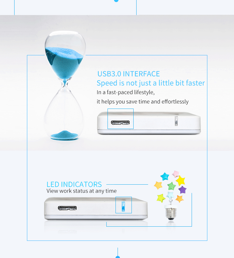 external hard drive 500gb usb hard disk sata hard drive external usb 3.0 support laptop hard driver portable hdd Blueenless