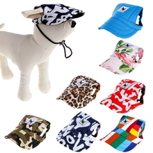 Canvas Pet Dog Cat Baseball Visor Hat Puppy Sunbonnet Cap Outdoor With Ear HolesWarm's house(China)