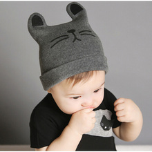 2017 Autumn Winter 0-12months Baby Hat Cotton Beanie Cap Toddler Infant Baby Girls and Boys Knitted Hats GH119 Kids Hats & Caps(China)