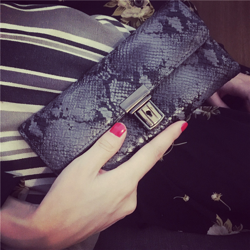 Vebin Snake Skin Leather Wallet Womens Long Wallets Ladies Hand Bag New Fashion New Designed For Female Luxury Purse Free Ship<br><br>Aliexpress