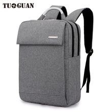 TUGUAN Fashion Men's Waterproof Business Travel Casual 15.6 inch Laptop Backpack School College Student Computer Bags Backbags