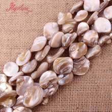 "9-13-13x18mm Natural Freeform White Shell MOP Beads Spacer Strand 14"" For DIY Necklace Bracelat Jewelry Making,Free Shipping(China)"