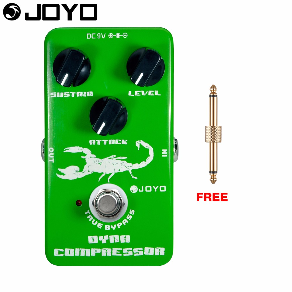 JOYO Dynamic Compressor Electric Guitar Effect Pedal True Bypass Optical Tremolo Intensity Control JF-10 with Free Connector<br>