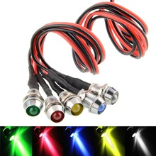 New 6mm LED Indicator Light Lamp Bulb Pilot Dash Directional Car Truck Boat 12V -UK Lots Of Colours