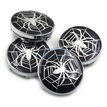 New Hot 60mm Car Emblem Wheel Hub Caps Centre Cover Caps Spider Logo for Audi Toyota Volvo in Black Color