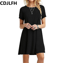 Buy CDJLFH 2017 New Fashion Ladies Casual Women Plus Size Short Sleeve Slim Dress Bodycon Female Black Dresses Autumn Party Dress for $4.41 in AliExpress store