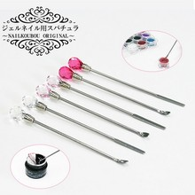 Professional 2PCS/LOT Nail Art Stirring Rod Tool Acrylic Powder Liquid spoon dotting pen professional senior Manicure Pedicare
