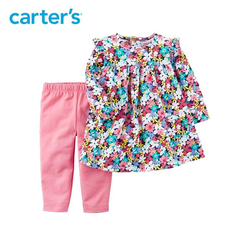 2 pcs Floral Imprimer Flutter Robe et Legging Ensemble de Carter bébé fille vêtements ensembles Printemps D'été 121I333 11