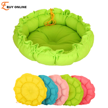 Newly Design Pet Products Soft Cloth Cute Pumpkin Shape Warm Comfortable Pet Bed for Puppy Dogs and Cats with Adjustable String