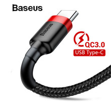 Baseus USB Type C Cable Samsung Galaxy S9 S8 Note8 Quick Charge 3.0 USB C Cable Xiaomi max3 Data Sync Fast Charger Cable