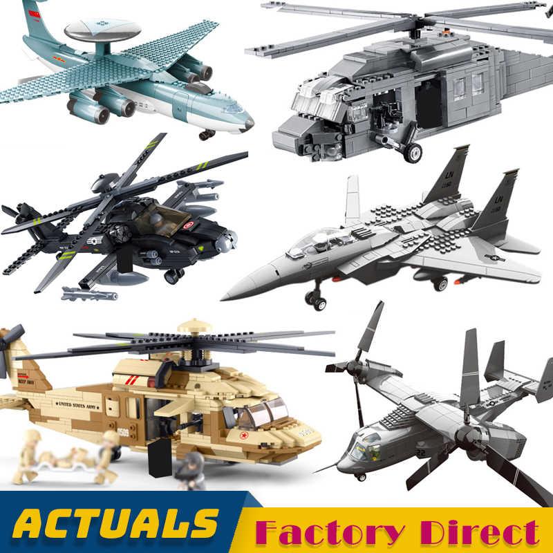 軍用戦闘機セット MOC 軍イーグル飛行機ブラックホーク