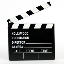 1x Wooden Director Clapperboard TV Movie Clapper Board Film Action Slate Prop Home Party Decor Photograph Prop