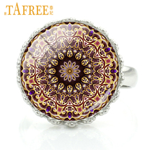 TAFREE 2017 classic zen flower of life rings vintage buddhist mandala art Chakra Sacred Geometry women fashion jewelry H275(China)