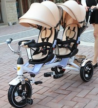 Twin baby stroller children tricycle tricycle bicycle bike double stroller
