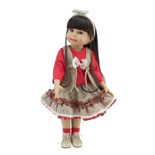 "18"" Journey Princess American Girl Doll Full Vinyl Silicone Girl Likelife Cute Soft Simulation Girl Doll For Kid's Gift"