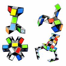 24 36 48 72 Puzzle Original 3D Ruler Magic Cubes Puzzle Magic Ruler Cube Snake Twist Puzzle Educational Toy for Children(China)
