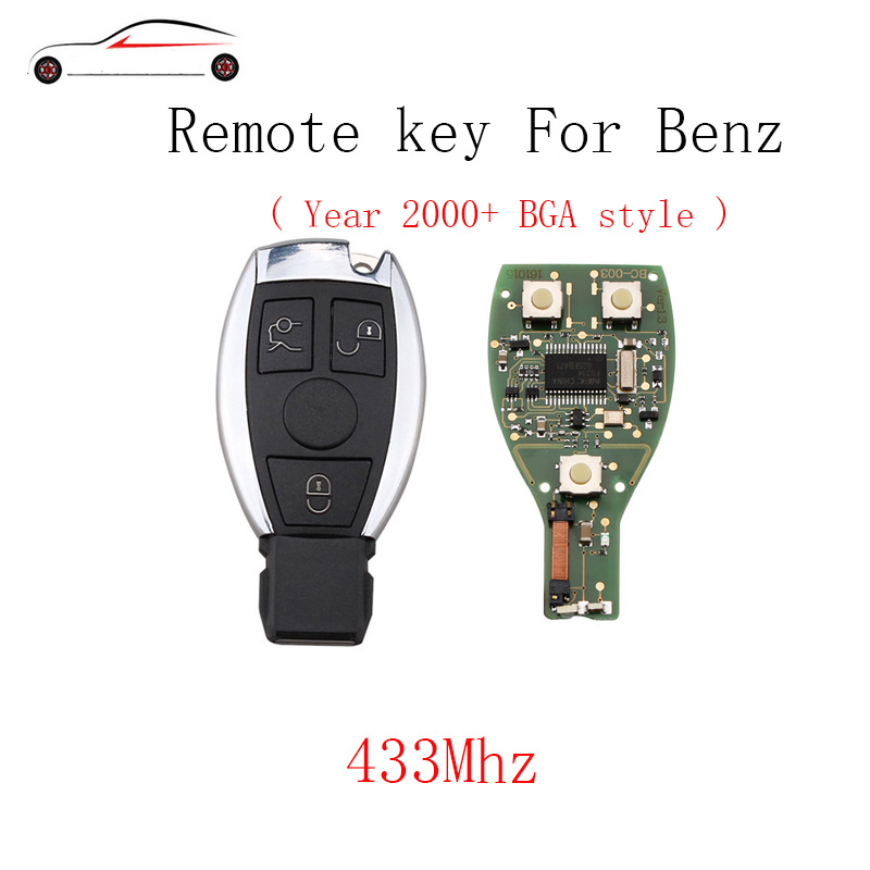 GORBIN 3Buttons 433Mhz Smart Remote Key Mercedes Benz year 2000+NEC&BGA style Mercedes-Benz IYZDC07 Original key