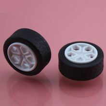 Buy 30pcs 20mm 2mmhole tamiya rubber plastic Wheel hot wheel toy car wheel Toy Accessories Technology Model Parts/rc/baby toys 202AH for $2.79 in AliExpress store