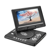"AC 100-240V 50/60Hz 7.0"" HD LCD Portable DVD Player Rechargeable 270 degree Swivel Screen TV Game USB FM Radio AV In-Car Charger(China)"