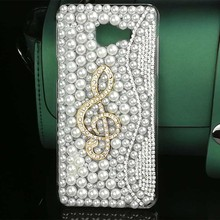 Luxury Pearls Diamond Cover for Samsung A5 2016/2017 Note 3 4 Jewelry Bling Rhinestone PC Case for Samsung J5/J7 2015/2016 Coque
