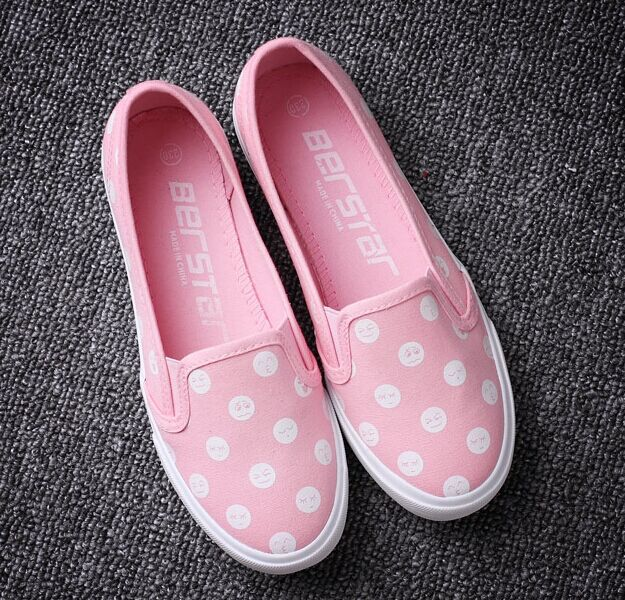 Free Shipping Women Shallow-mouth Canvas Shoes Polka Dot Flats Casual Shoes Outdoor Shoes Size35-40<br><br>Aliexpress