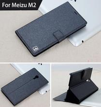 New Arrival For Meizu M2 mini 5.0'' Case Luxury Leather Cell Phone Hard Cover For Meizu Meilan 2 Book Style Stand Case Cover(China)