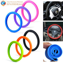 Soft Silicone Auto Car Steering Wheel Cover Shell Skidproof Eco Friendly Car Styling for Mercedes Audi Nissan VW Peugeot Mazda