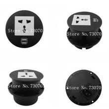 Round Table Mount Socket with Universal/UK/EU/USA power and RJ45/rj11/HDMI/dual USB /USB european USB usb multi charge sockets(China)