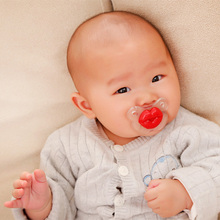 Funny Silicone Baby Pacifier Red Lip Teeth Mouth Infant Dummy Soother Teether Pacy Orthodontic Teat Nipple Pacifier