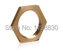 "Free shipping 10PCS 1/4"" BSP Female Brass Pipe Fitting Hex Lock Nut Brand NEW"