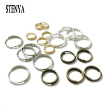STENYA Jump Rings Split Ring Double Loops Necklace Tassel Hook Connector Bag Charm Dangle Clasp Decoration Jewelry Finding(China)